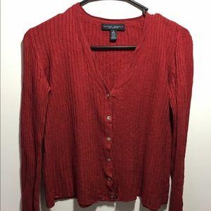 Banana Republic red cardigan sweater